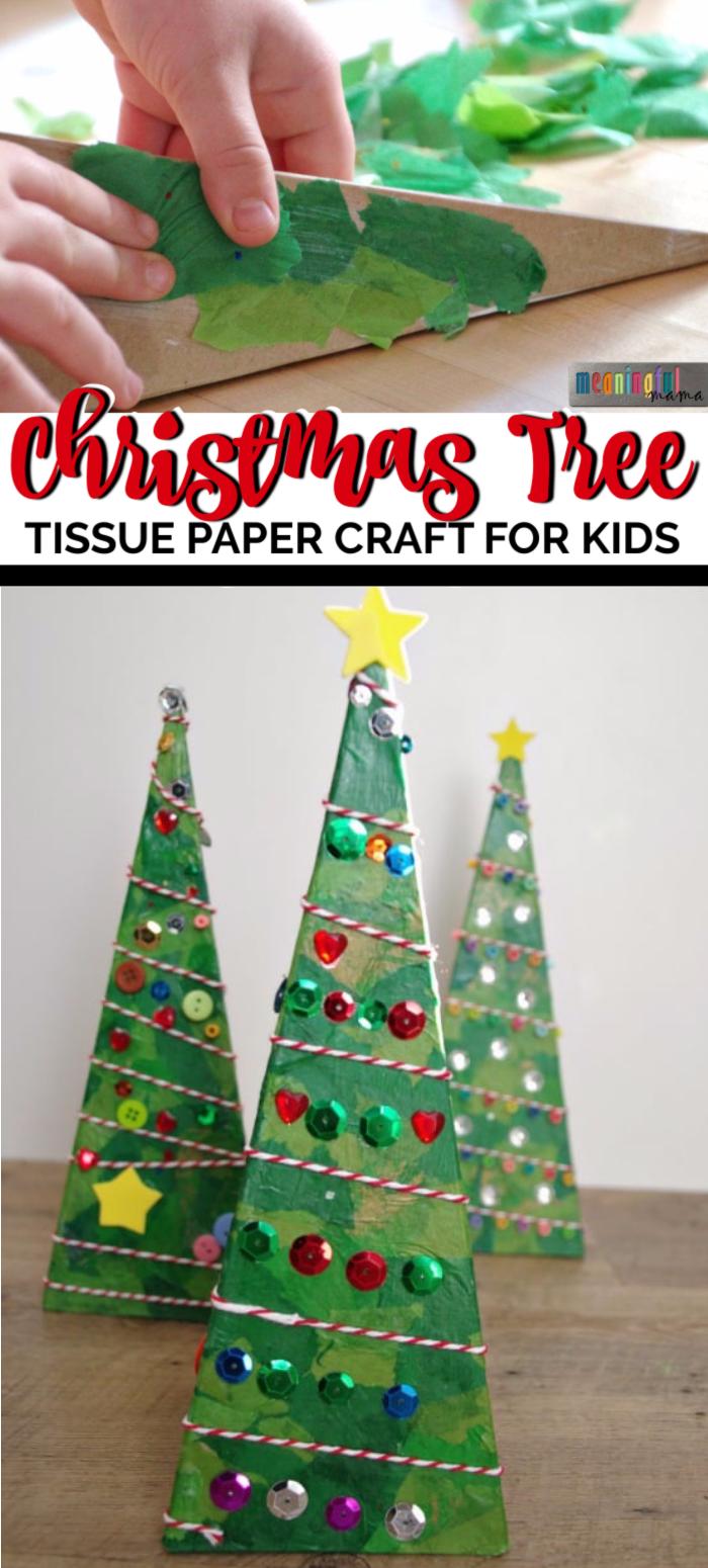 3 D Pyramid Christmas Tree Craft Christmas Tree Crafts Tree Crafts Crafts