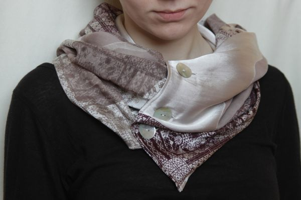 Hand Dyed and Screen Printed Scarf by Liucija Dervinyte, via Behance