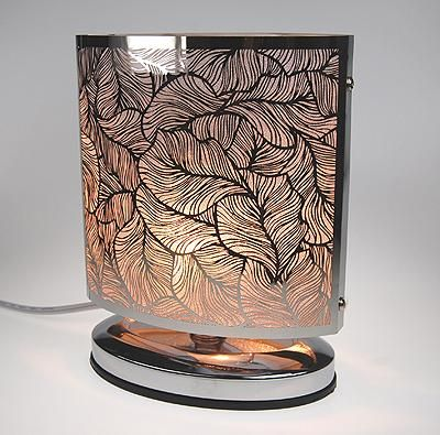 Leaf Design Oval Electric Touch Aroma Lamp Touch Lamp Adjustable Lighting Leaf Design