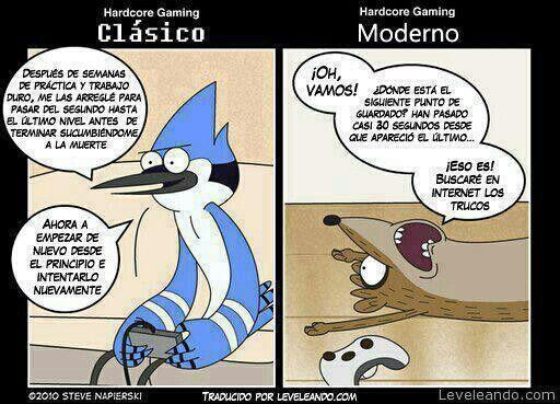 Gamer clasico vs Gamer moderno