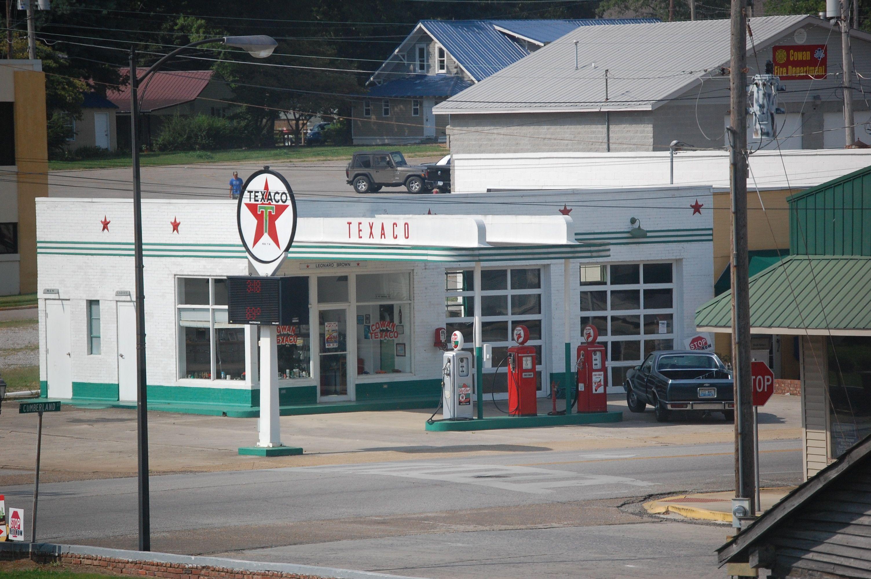 Cowan Tn Old Gas Stations Gas Station Texaco Vintage