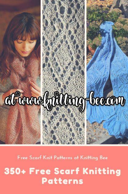 350 Plus Free Scarf Knitting Patterns Knitting Bee Knit