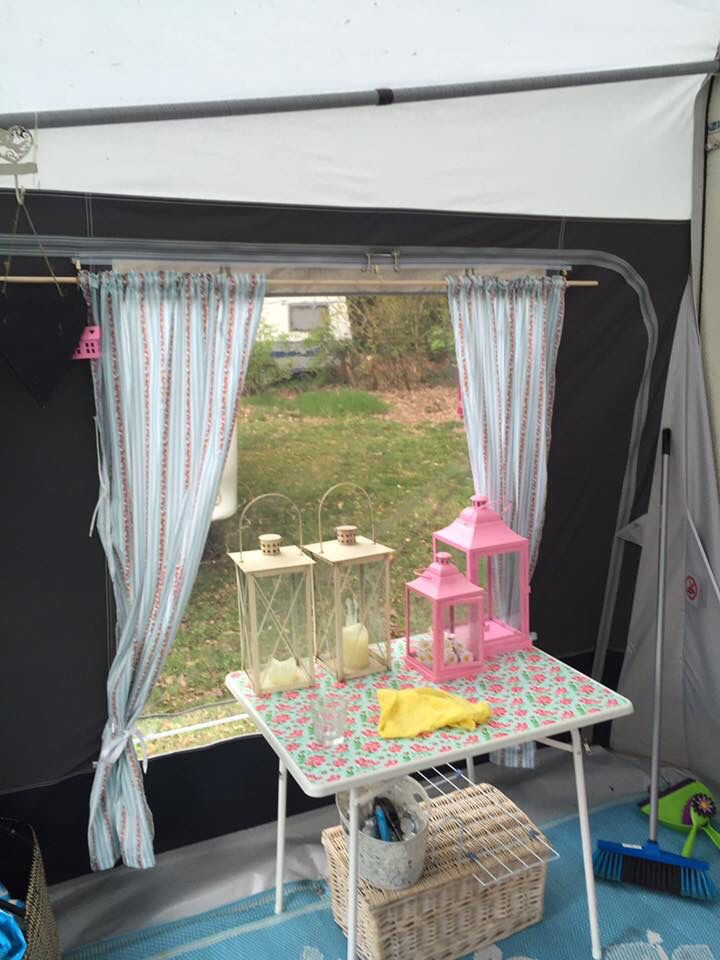 gordijnen voortent op roedes camper caravan outdoor camping