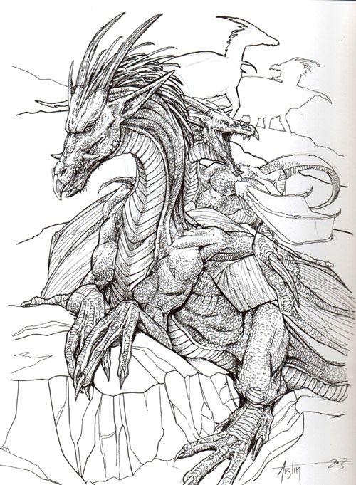 Dibujo De Dragon Coloring Coloring Pages Adult Coloring Pages