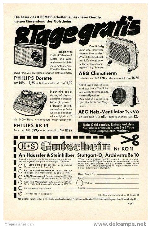 original werbung inserat anzeige 1960 aeg climatherm heiz
