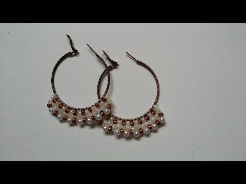 Handmade Beaded Hoop Earrings Tutorial Diy Elegant