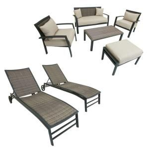 Zen 7 Piece Patio Seating And Lounger Set Op Zen7 At The Home