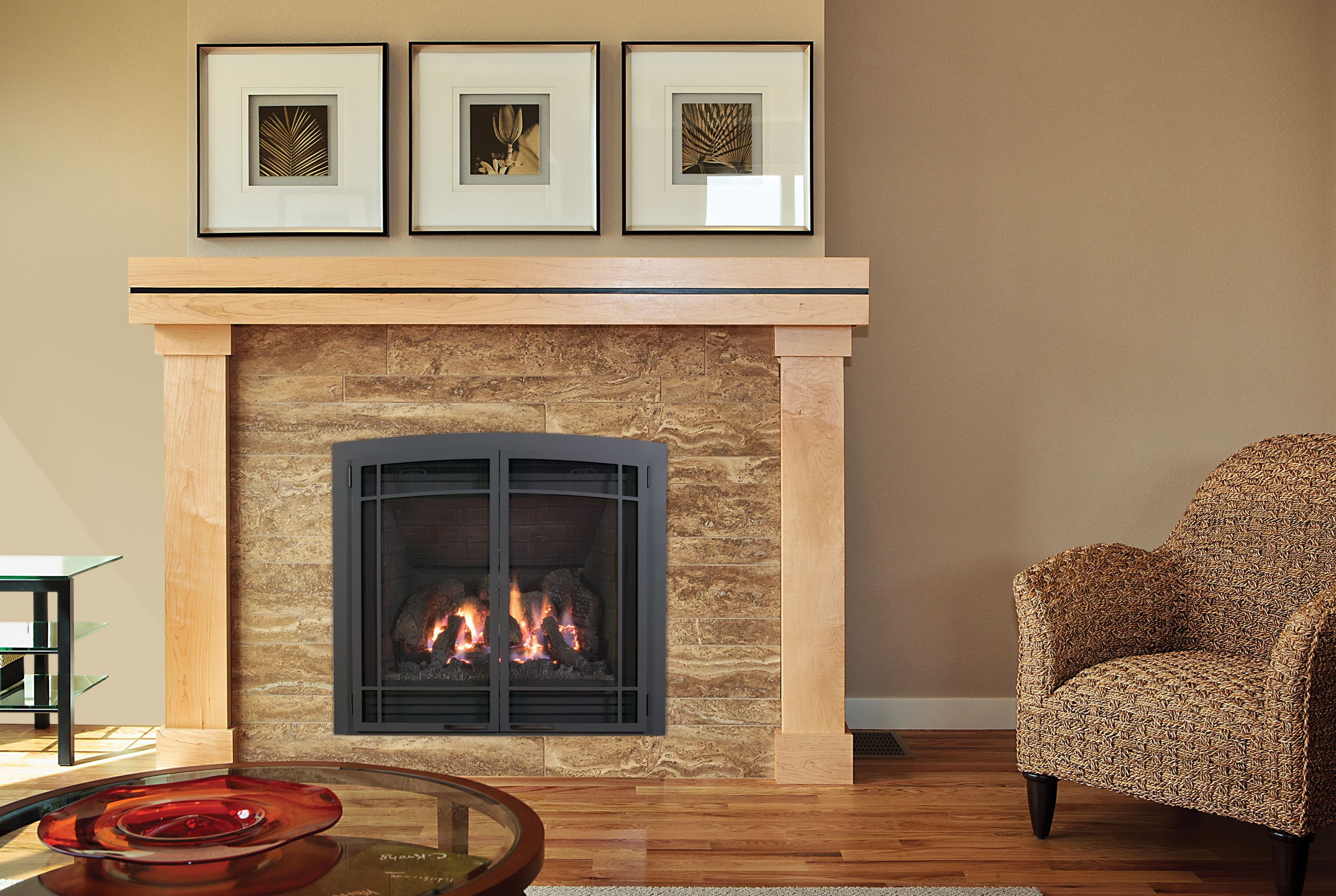 this is our bayport 36 l direct vent gas fireplace for more