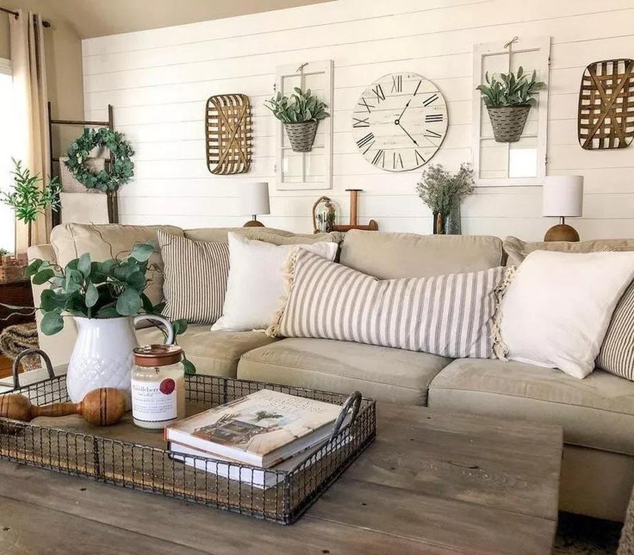 44 Inspiring Cozy Farmhouse Living Room Decor Ideas