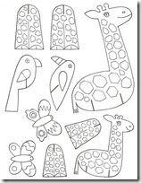 zoolgico para armar dibujos de animales para colorear recortar