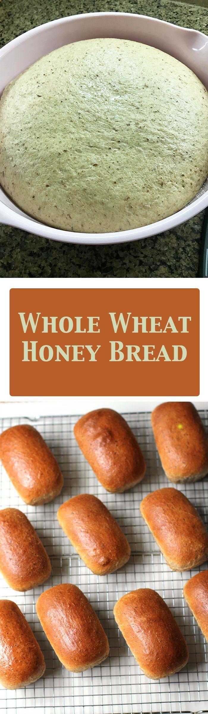 Whole Wheat Honey Bread #flaxseedmealrecipes