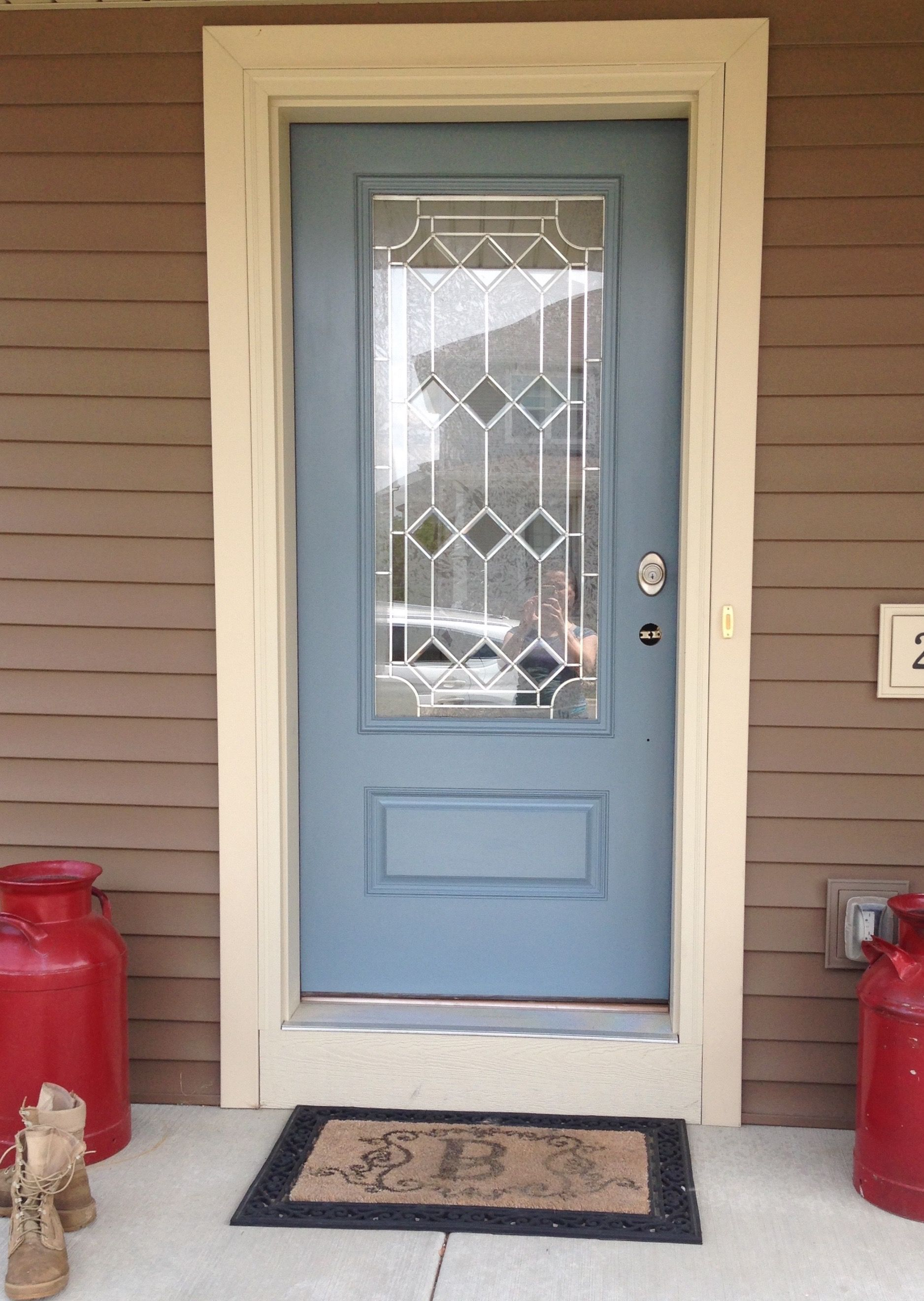 FRONT DOOR AFTER color Hamilton Blue by Benjamin Moore using Grand