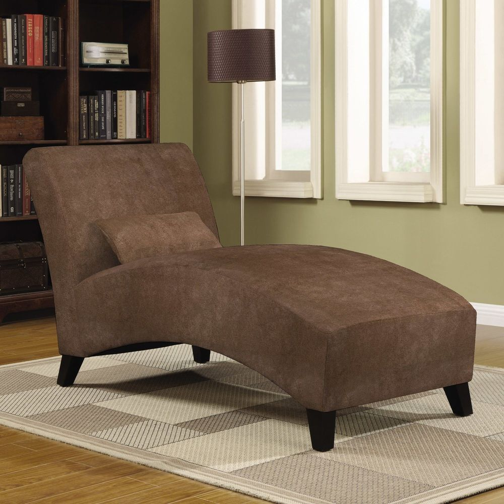 Chaise lounge indoor chair brown modern living room