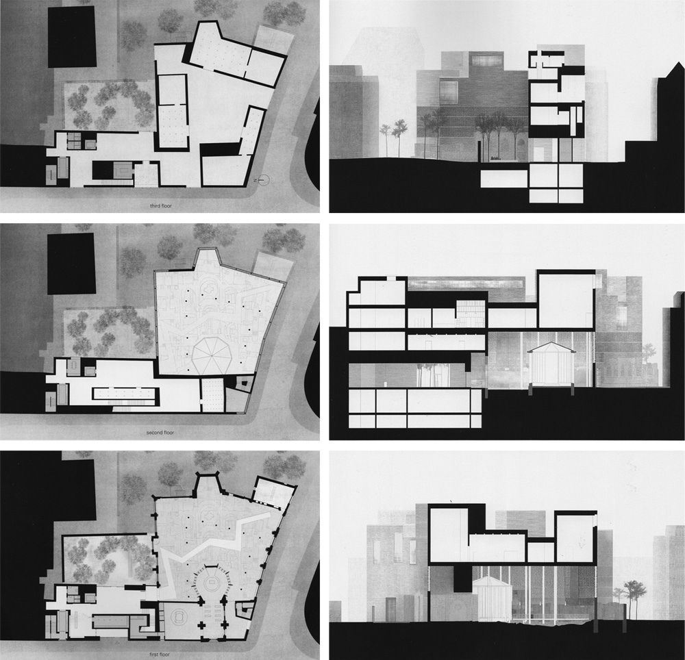 Plan Coupe Elevation Architecture : Peter zumthor kolumba pinterest