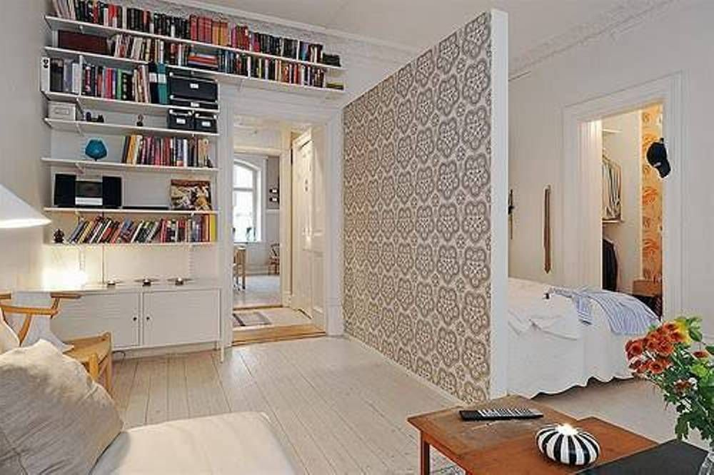 with divider cool studio apartment design - Cool Studio Apartment Designs