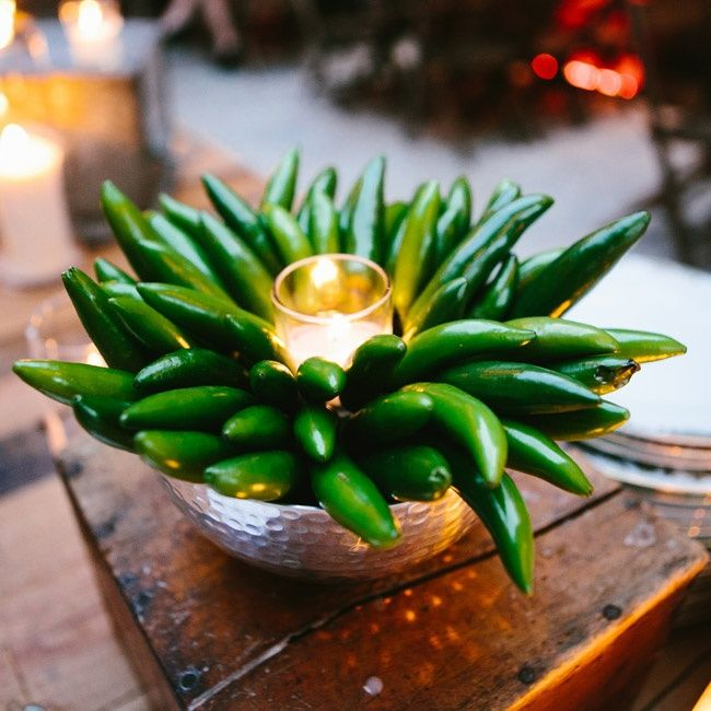 Mexican Themed Wedding Reception: Pepper Centerpiece, Perfect For An Mexican Themed Menu