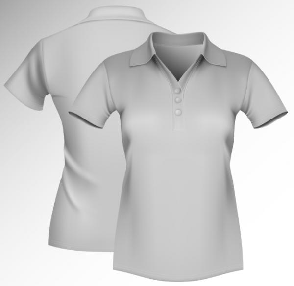 Polo T Shirt Mockup Front And Back Psd Free Beautifully Vector Shirt Template
