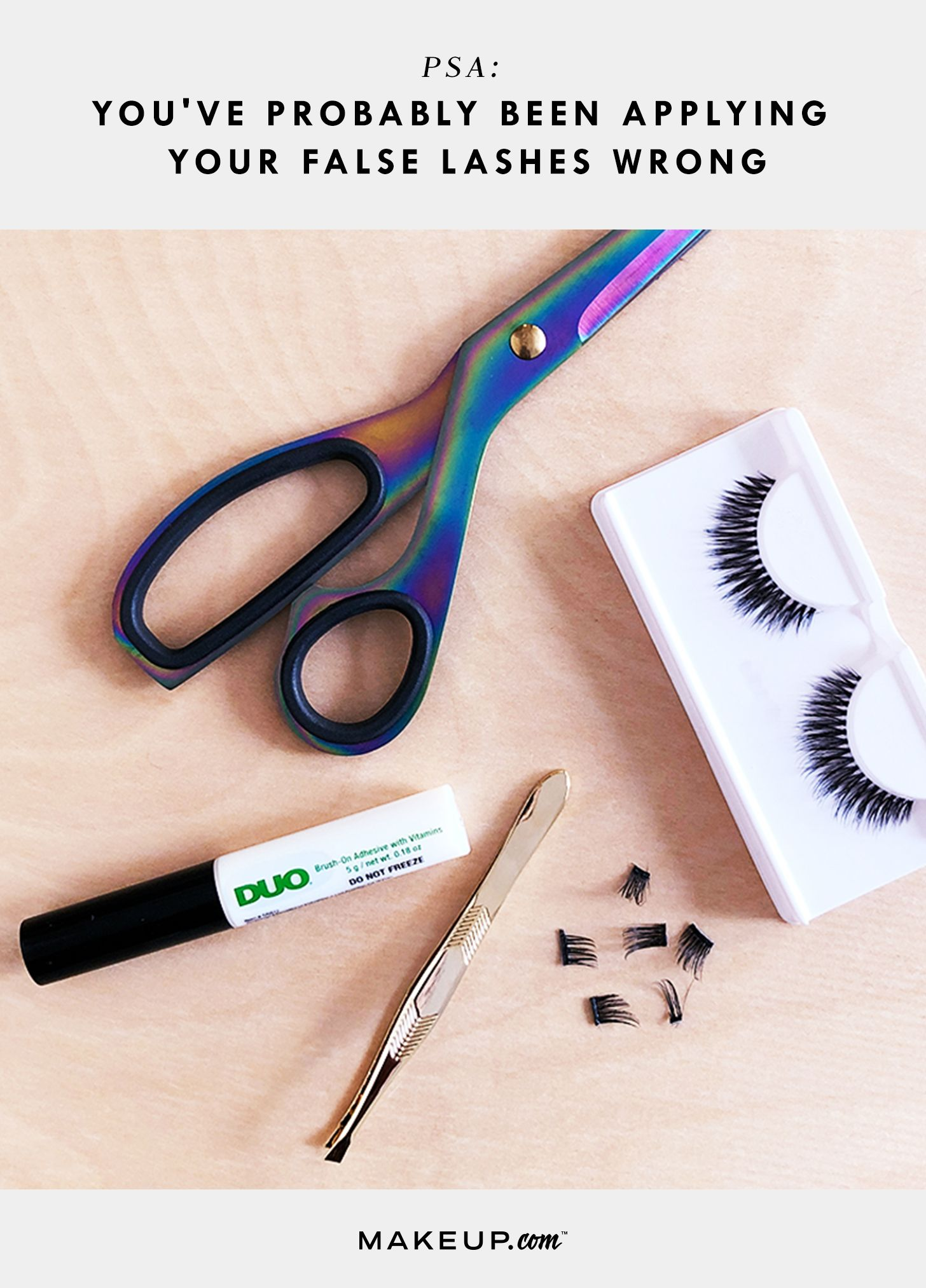 How To Apply False Lashes Beauty Guides Pinterest Applying