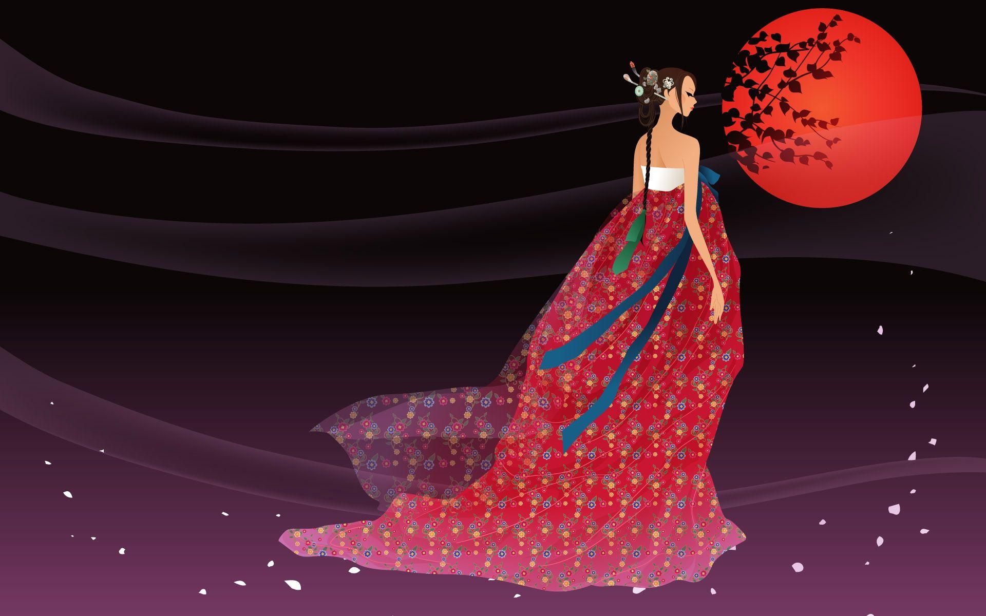 Korean Women Wallpapers 7010 Korean Women Cartoon Cartoon Illustration Magical Art Art Artistic Wallpaper