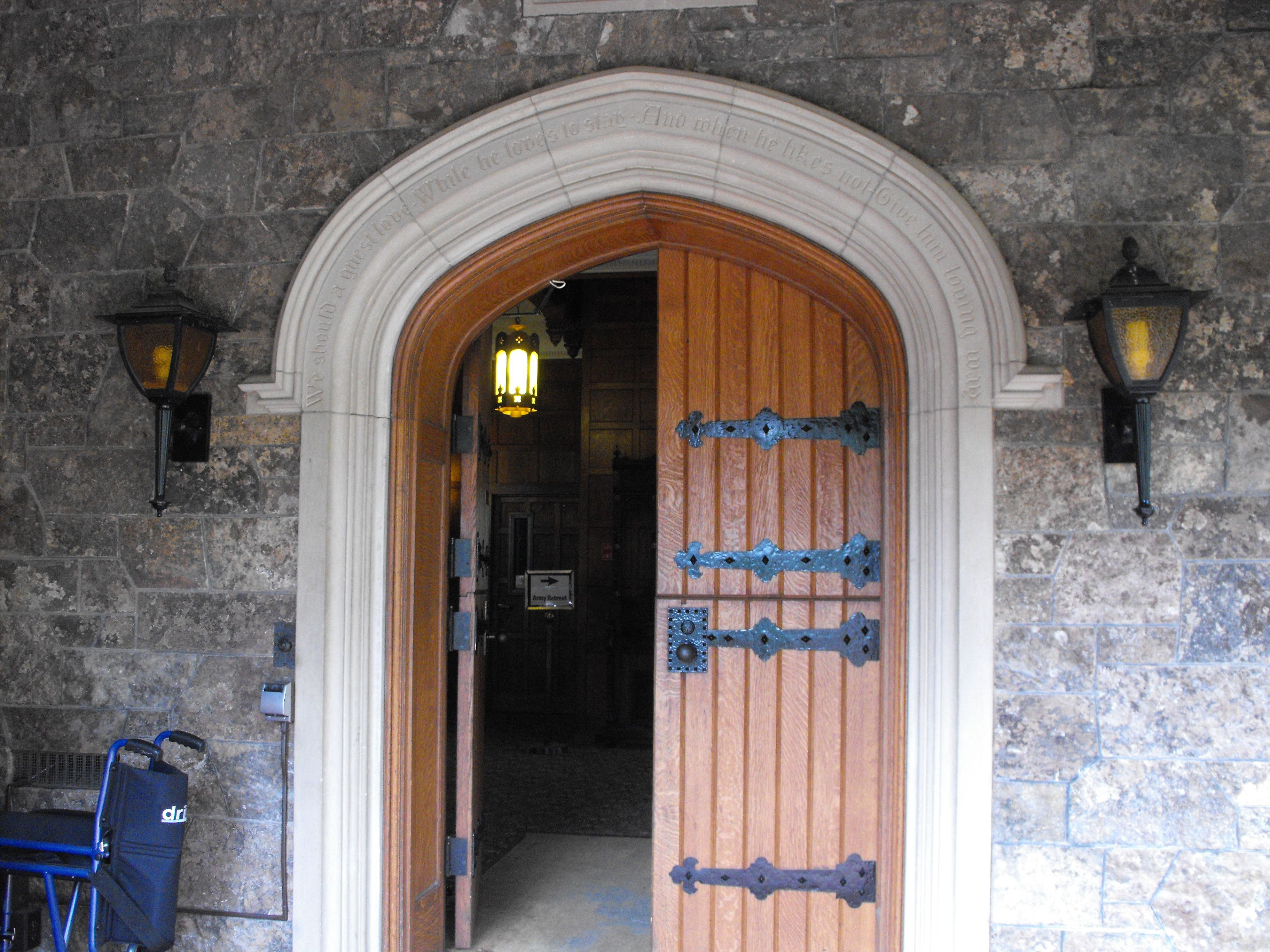 Entrance The Castle Glen Eyrie Colorado. I ACTUALLY walked through these doors! & Entrance The Castle Glen Eyrie Colorado. I ACTUALLY walked ... Pezcame.Com