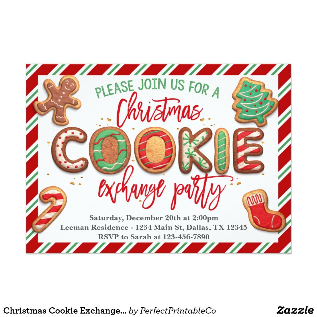 Christmas Cookie Exchange Party Invitation | Cookie exchange party ...