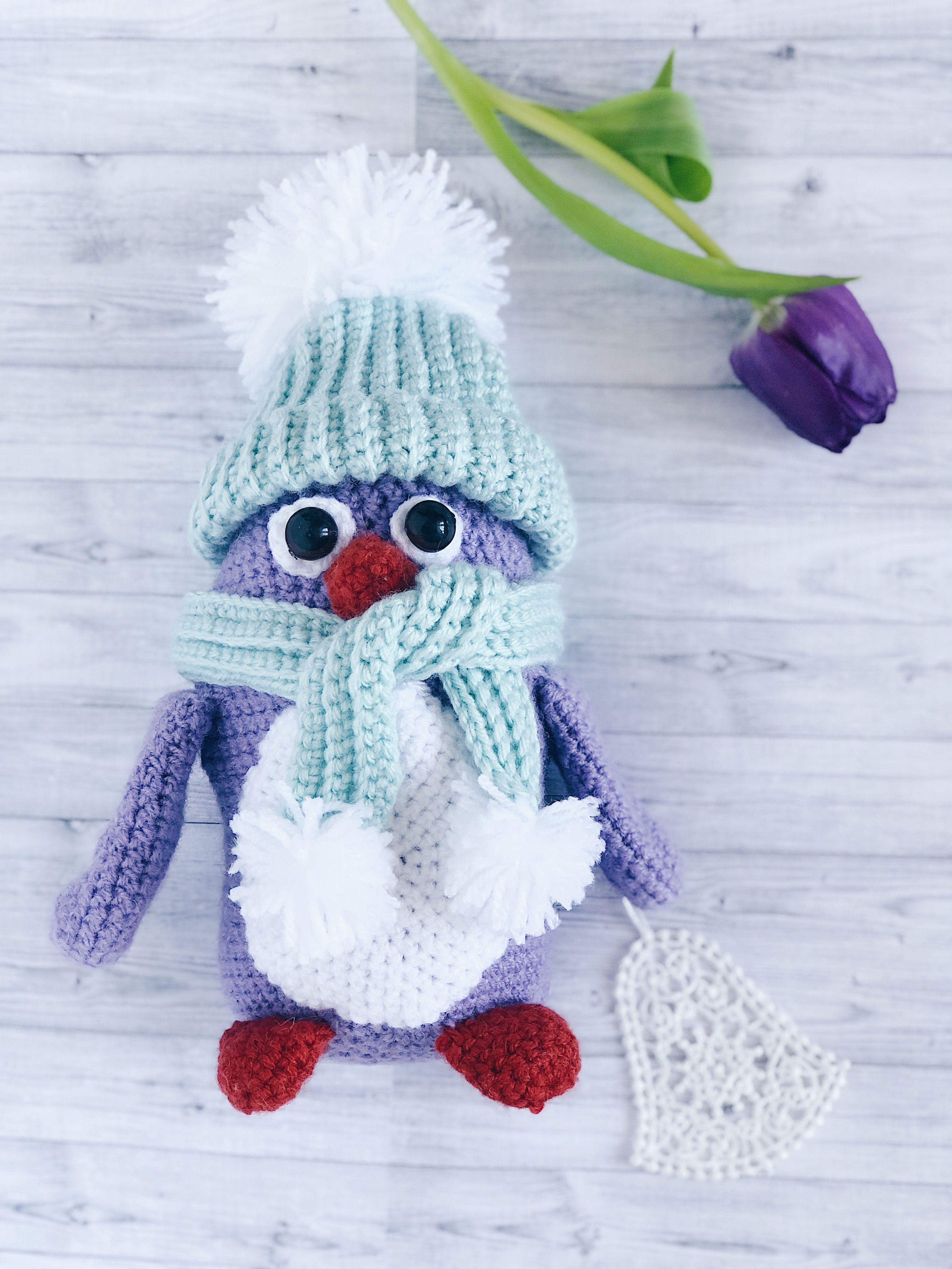 амигуруми пингвин вязаный пингвин игрушка ручной работы вязаная