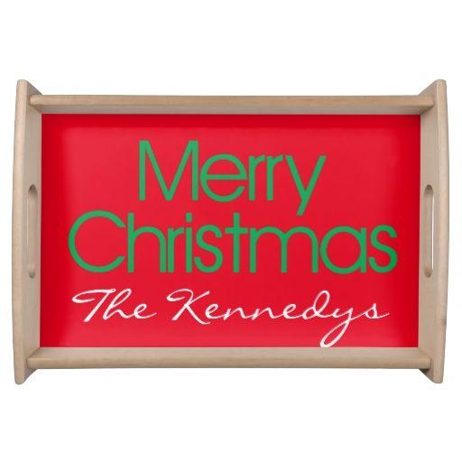 Merry Christmas Service Trays