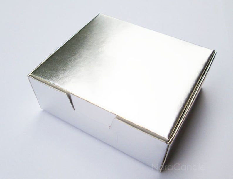 Bulk silver box small metallic silver box silver foil