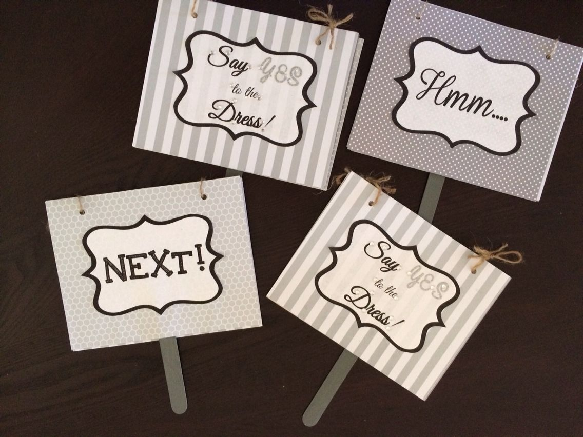 wedding dresses websites Say YES to the Dress Signs for wedding dress shopping