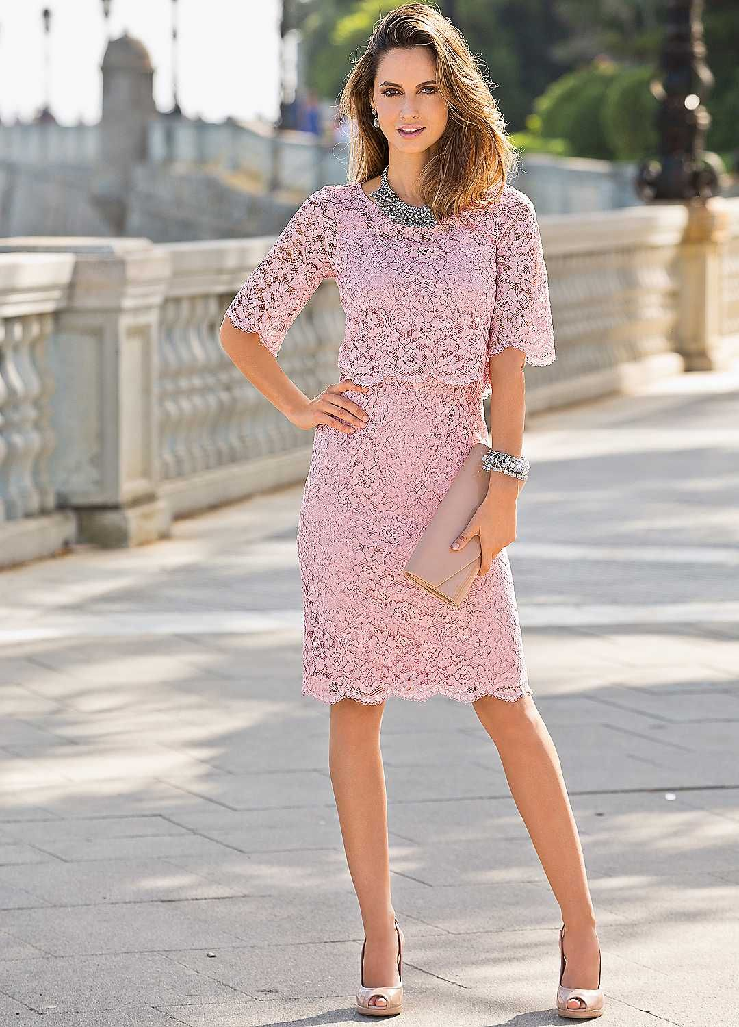 Together Short Sleeve Lace Dress