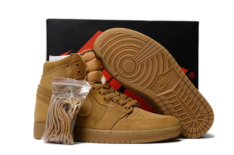 2017 Air Jordan 1 High Wheat Golden Harvest Elemental Gold