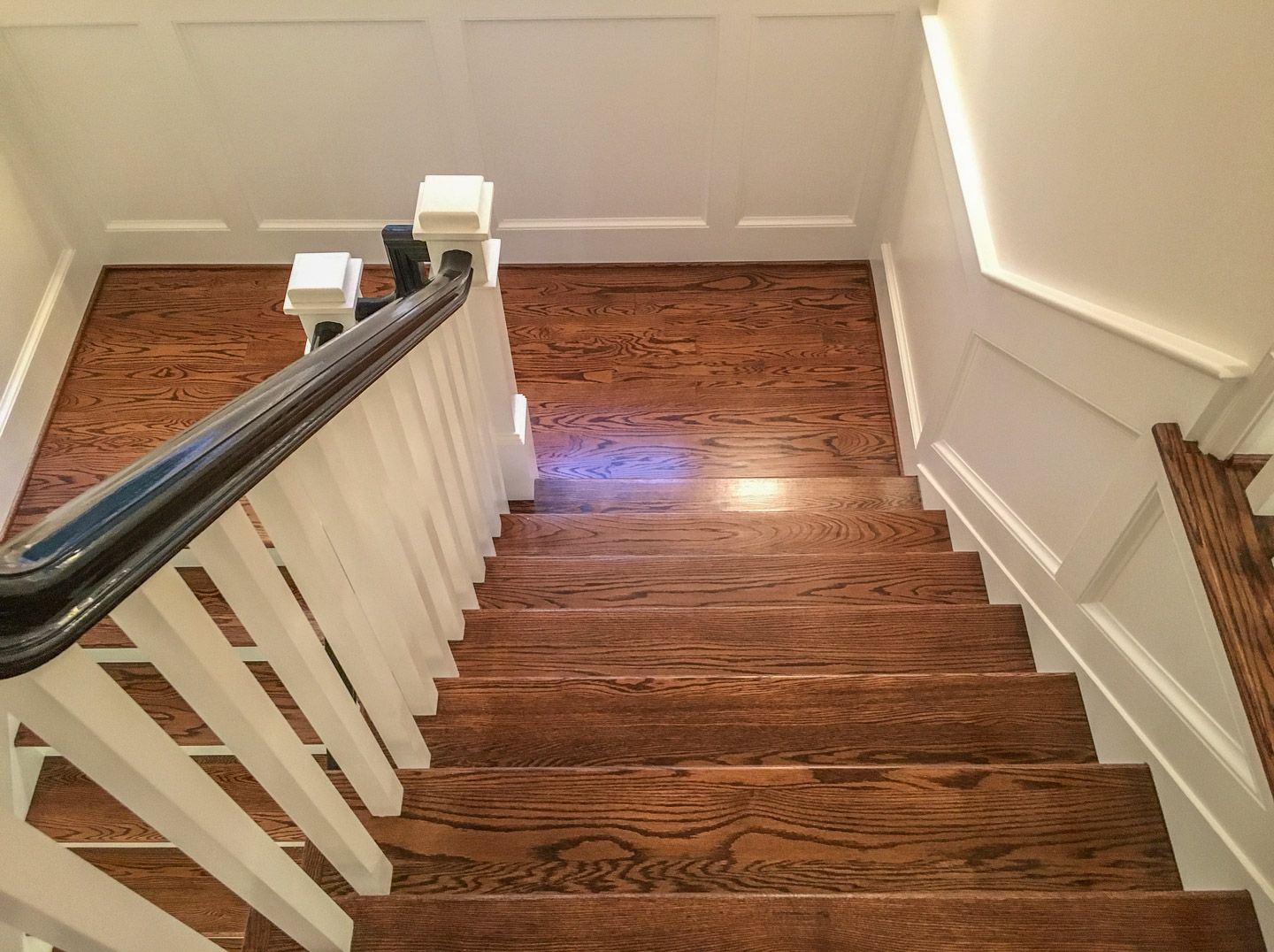 Red Oak with English Chestnut and Dark Walnut Stain Red