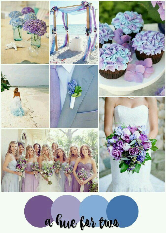 Lavender Purple And Light Blue Beach Wedding Colour Scheme Destination Planning Colors A Hue For Two