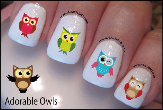 Owl Nail Decal Adorable Owl Design Nail Art. $4/set of 20 - Owl Nail Decal Adorable Owl Design Nail Art. $4/set Of 20 Dopeness