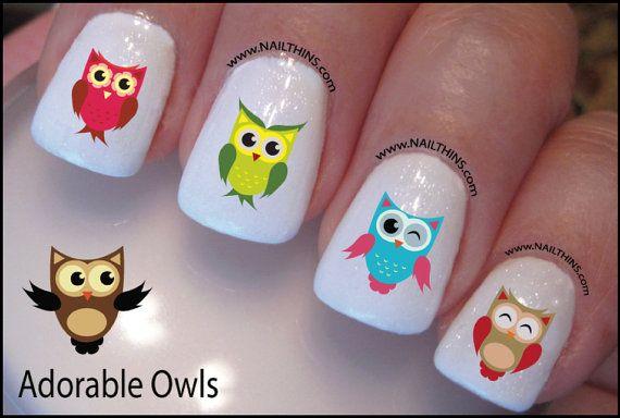 Owl Nail Decal Adorable Owl Design Nail Art Appearance Pinterest