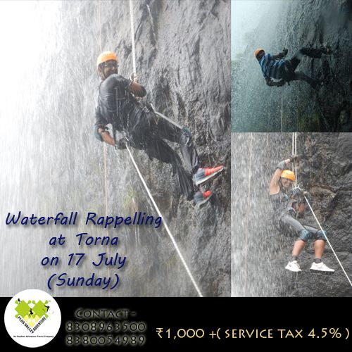 Waterfall Rappelling At Torna Enroll Now - http://bit.ly/29Ctgbe