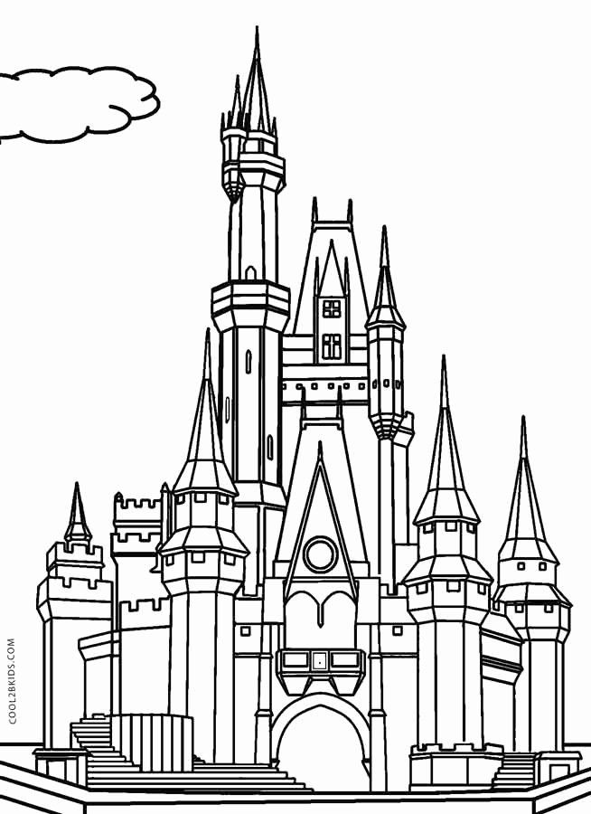 Disney Castle Coloring Page New Printable Castle Coloring Pages For Kids In 2020 Castle Coloring Page Cinderella Coloring Pages Mermaid Coloring Pages
