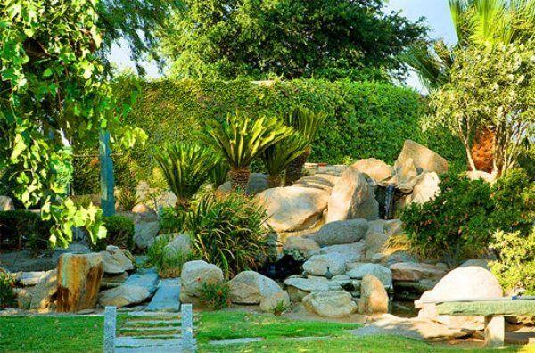 Naturnahe Gestaltung-Steine im Garten Steingarten Pinterest