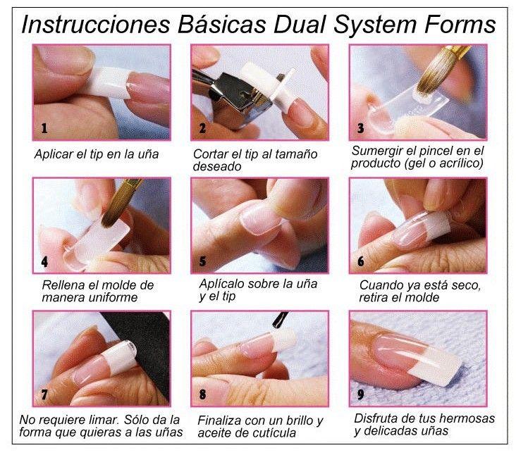 Dual System Forms Moldes De Uñas Uñas De Gel Material
