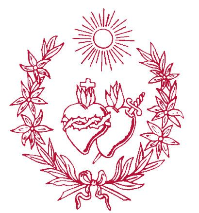 symbol of the society of the sacred heart all things