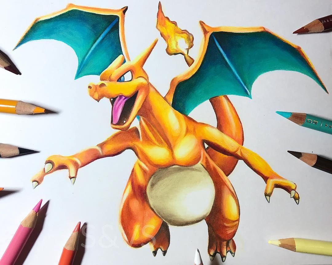 Day 16 of inktober charizard pokemon pokemongo