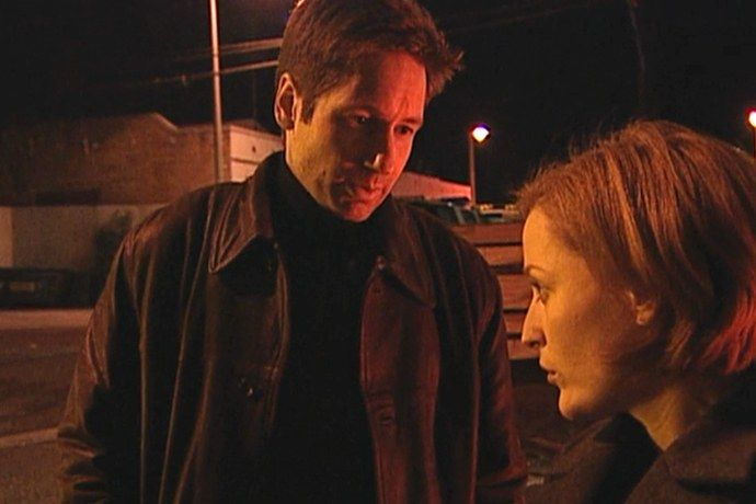 """Season 7, Episode 12 """"X-Cops"""": The X-Files and Cops crossover. Sounds bad, right? It's not. It's scary and cool and highlights the show at its most inventive. It also shows how resilient the Mulder/Scully dynamic is. Seven years in and Mulder is still coming up with a crazy theory, Scully is pointing out that it's a crazy theory.. - The 9 Episodes That Will Get You Hooked on The X-Files 