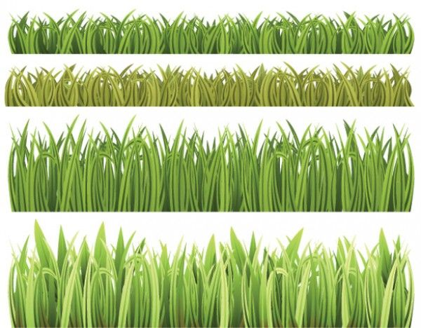 4 Green Grass Hedge Vector Backgrounds - http://www.welovesolo.com/4-green-grass-hedge-vector-backgrounds/