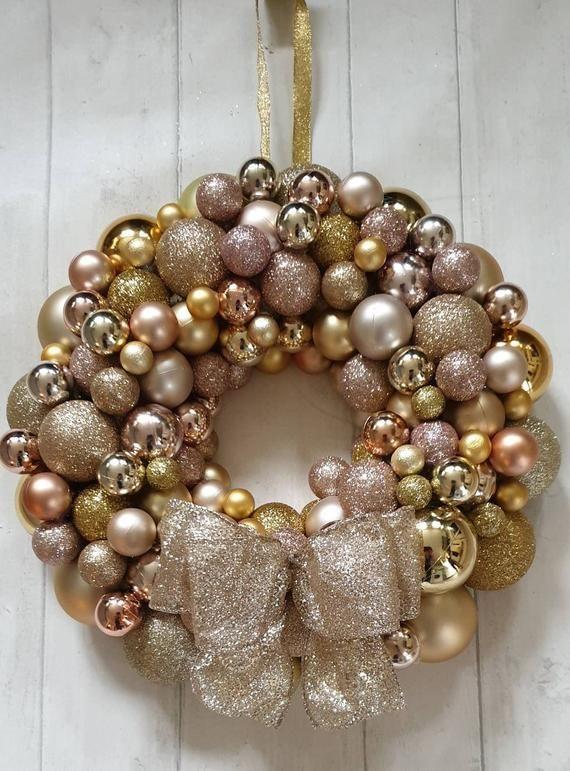 Deluxe Christmas wreath - Christmas wreath, bauble wreath, large Christmas wreath, large door wreath, baubles,front door christmas wreath