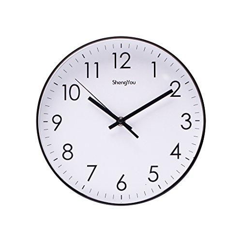 Sonyo Indoor Non Ticking Silent Quartz Modern Simple Wall Clock Digital Quiet Sweep Movement Office Decor 10 Inch Bluegreen With Images Wall Clock Digital Wall Clock Clock