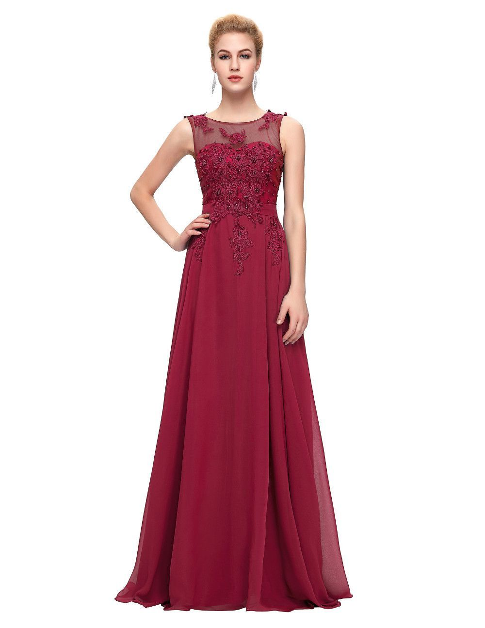 Elegant chiffon evening dresses formal evening dress at bling brides
