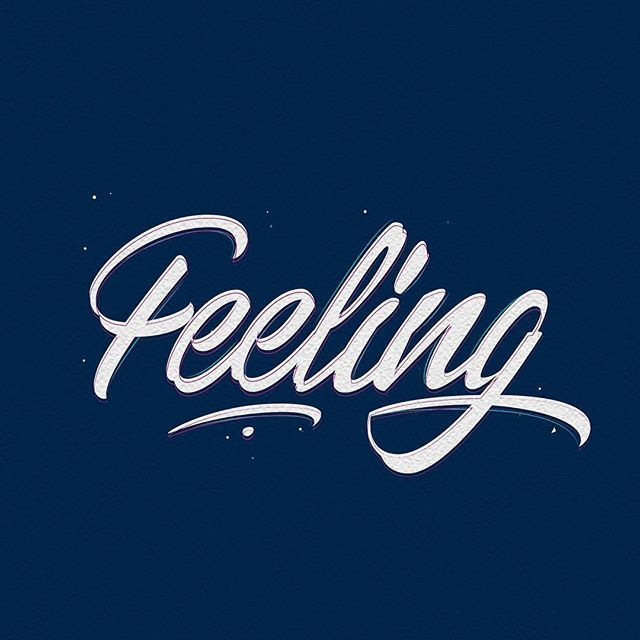 Feeling by @strdst1987 - typography & lettering design love ❤️ - typostrate - typostrate.com
