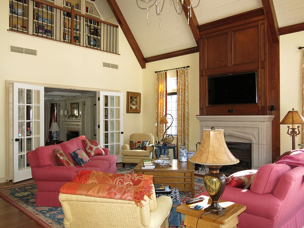 living room in a 1930's old world charm home in a new