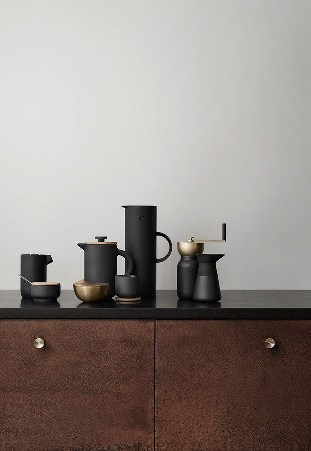 **New additions to Stelton's Theo range** Announced for Autumn-Winter 2016. They include a sugar bowl, a coffee grinder and a coffee press. Soon to be in Coastal Spaces Cornwall watch this space! ✨