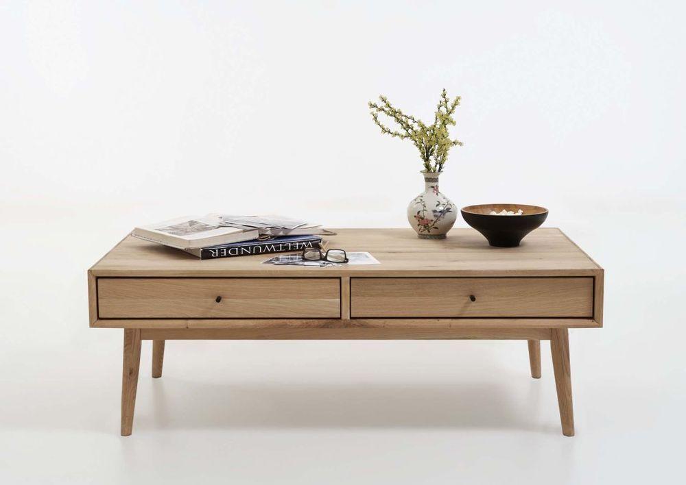 Couchtisch Holz, Eiche massiv - 2 Farben, Modell Ohio von Bodahl ...